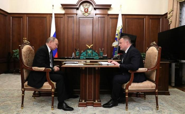 Владимир Путин провёл встречу с главой администрации Тамбовской области Александром Никитиным