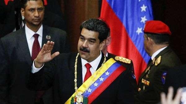 Президент Венесуэлы Николас Мадуро перед началом своего выступления в штаб-квартире Верховного суда Венесуэлы. 24 января 2019
