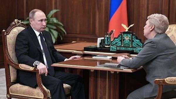 Президент РФ Владимир Путин и Ольга Васильева