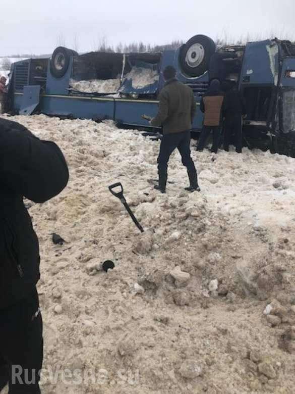 В Калужской области перевернулся автобус с детьми, есть жертвы | Русская весна
