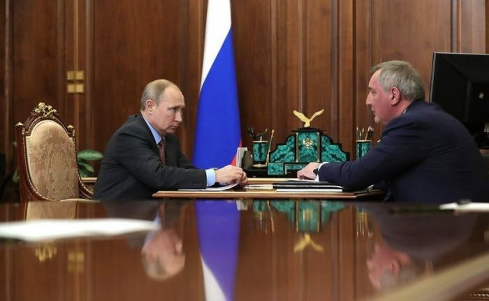 Владимир Путин сДмитрием Рогозиным обсудили ситуацию в ракетно-космической промышленности
