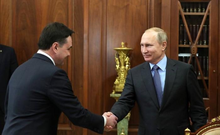 Владимир Путин провёл встречу с губернатором Московской области Андреем Воробьёвым