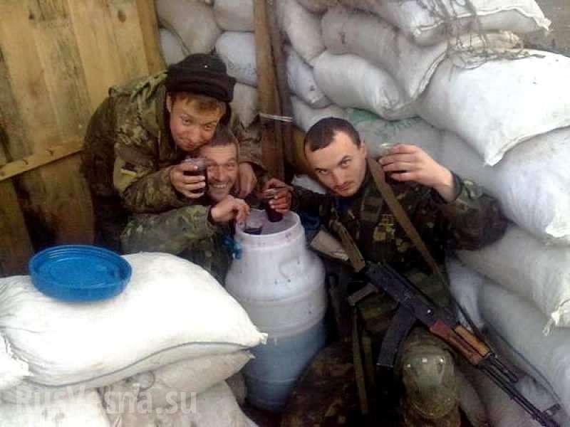 Сводка оситуации наДонбассе: ВСУ ведут неравный бой с«палёным» алкоголем