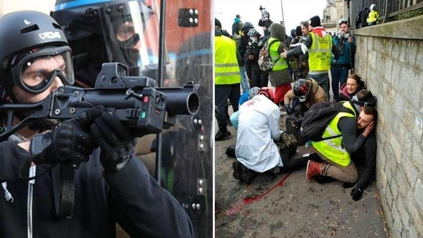 Протесты «жёлтых жилетов» в Париже заканчиваются в больнице