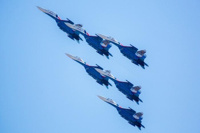 Новая фигура высшего пилотажа «Русских Витязей»