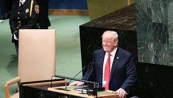 Президент США Дональд Трамп выступает на Генеральной Ассамблее Организации Объединенных Наций в Нью-Йорке