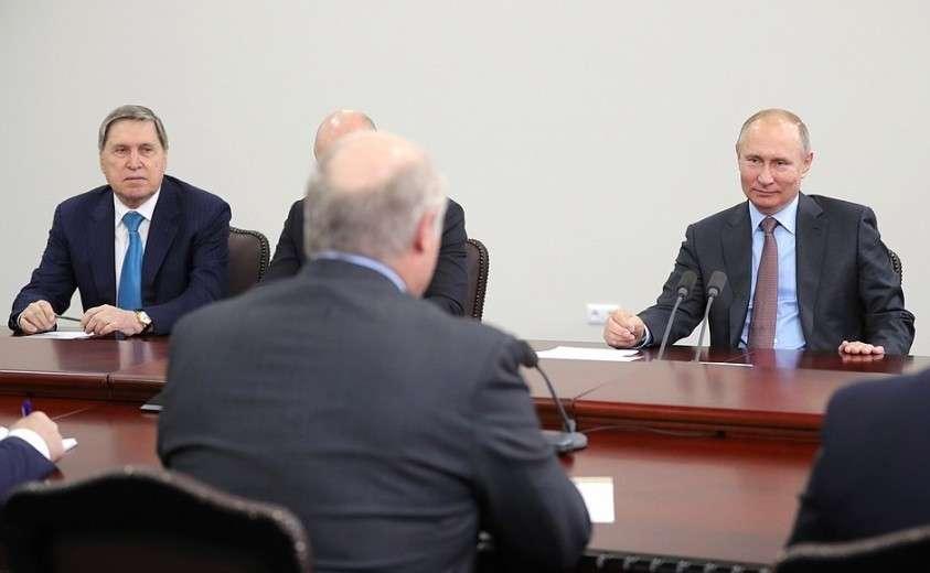 В ходе встречи с Президентом Республики Беларусь Александром Лукашенко.