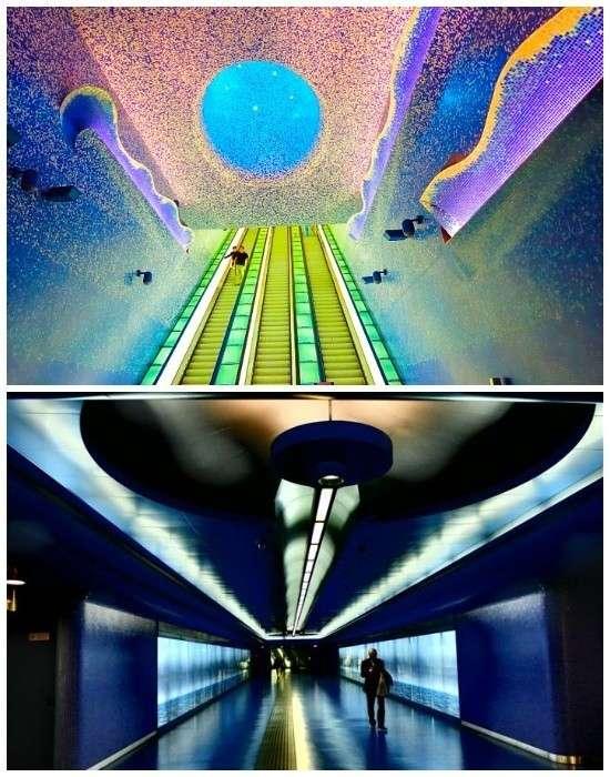 Самая фантастическая станция метрополитена Толедо в Неаполе (Италия).