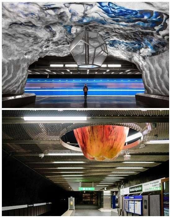 Одна из самых познавательных станций метро Стокгольма – «Технологический институт (Tekniska hogskolan)» (Швеция).