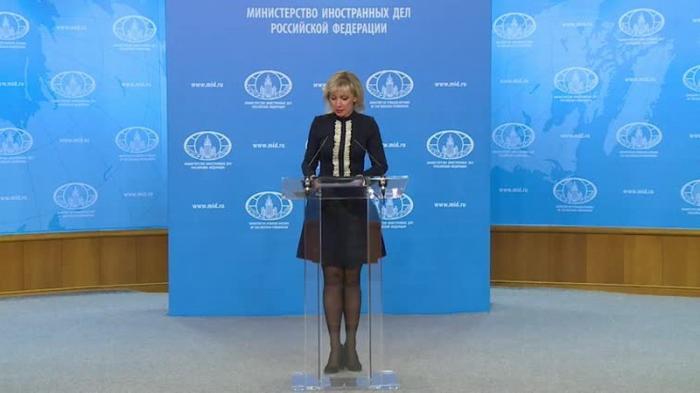 Мария Захарова провела еженедельный брифинг МИД России 14.02.2019