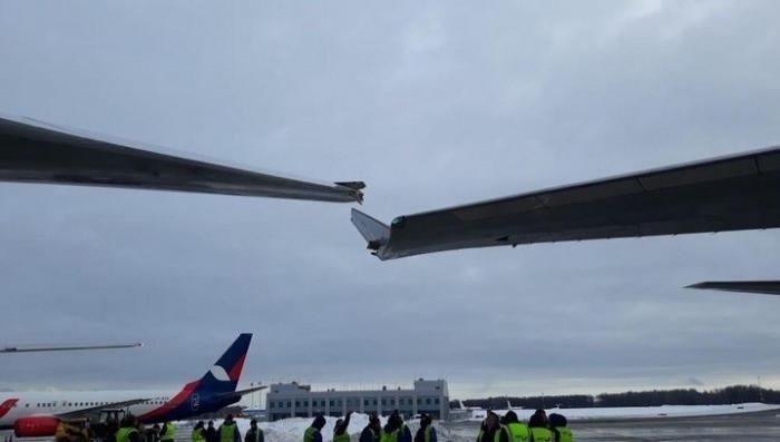 Москва. Два самолета столкнулись в аэропорту Внуково