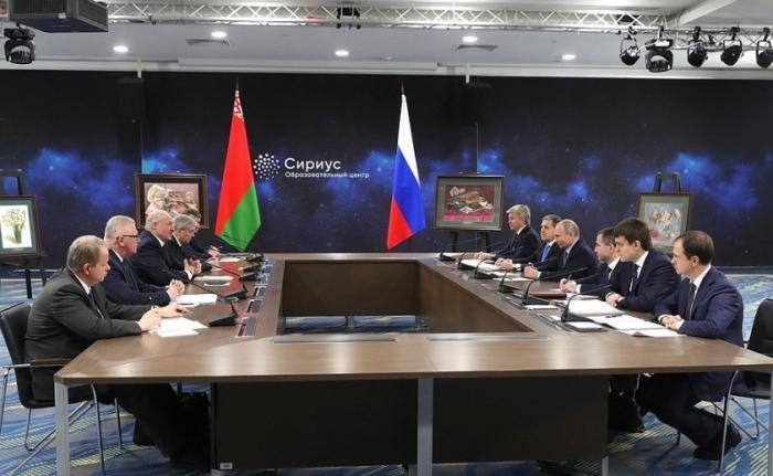 Встреча Владимира Путина с Александром Лукашенко повопросам развития российско-белорусских связей