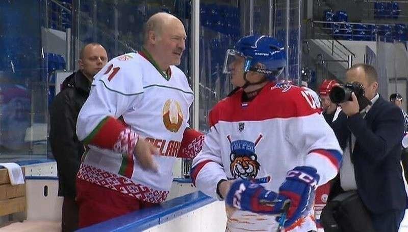 В Сочи Владимир Путин и Александр Лукашенко сыграли в хоккей за одну команду