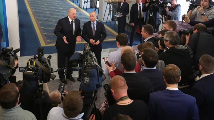 Владимир Путин и Александр Лукашенко ответили на вопросы журналистов
