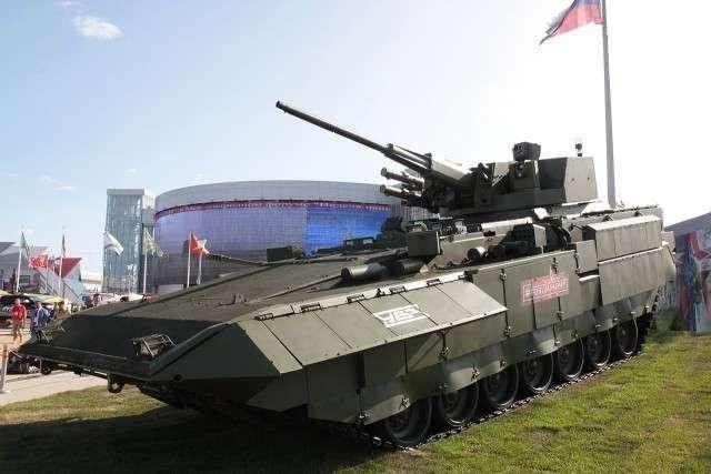 Тяжелая БМП Т-15 модулем АУ220М.