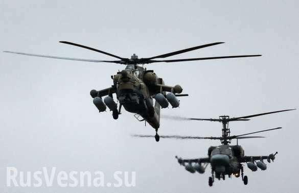 Охота вертолётов ВКС России на ИГИЛ в Сирии | Русская весна