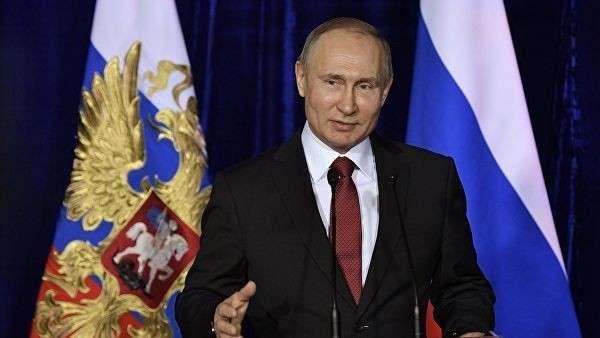 Президент РФ Владимир Путин на церемонии вручения премий в области науки и инноваций для молодых ученых за 2017 год. 8 февраля 2018