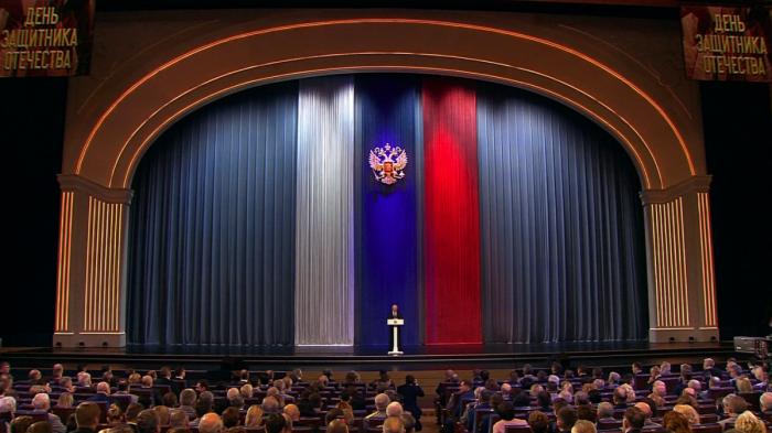 Владимир Путин поздравил ветеранов и Вооружённые Силы РФ с Днём защитника Отечества