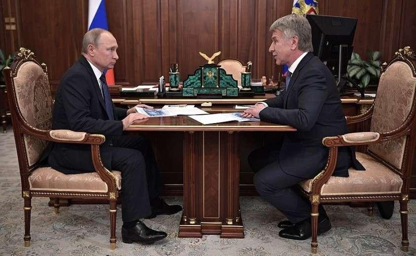 С председателем правления компании «НОВАТЭК» Леонидом Михельсоном.