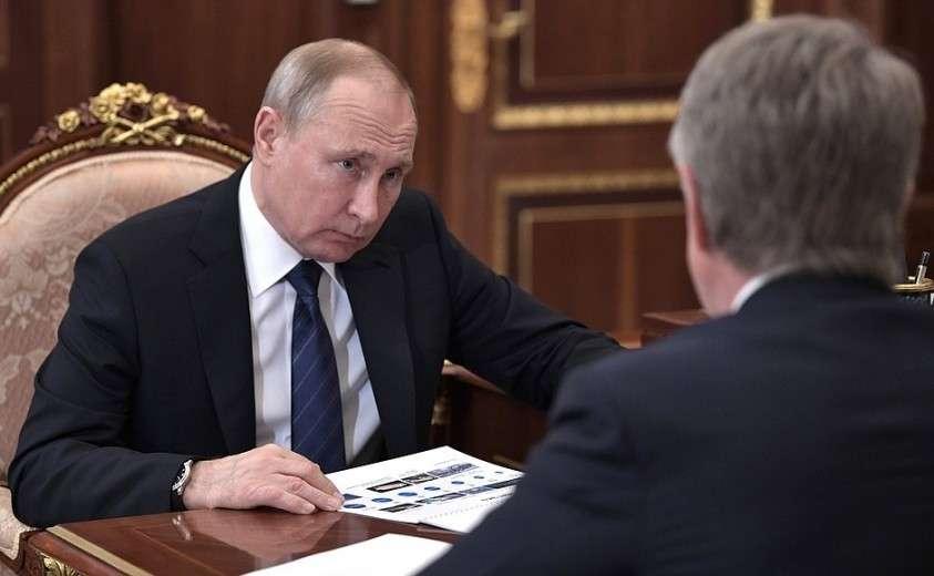На встрече с председателем правления компании «НОВАТЭК» Леонидом Михельсоном.