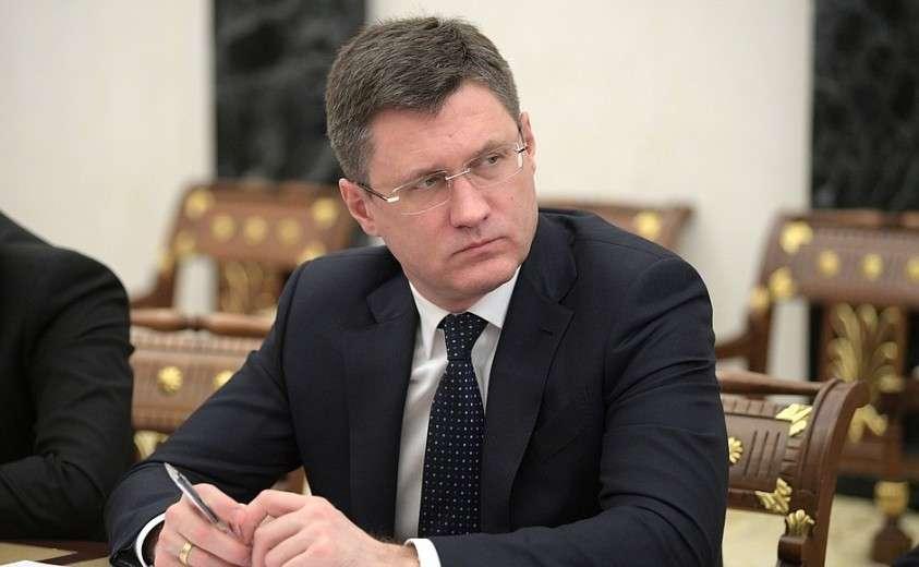 Министр энергетики Александр Новак на совещании с членами Правительства.