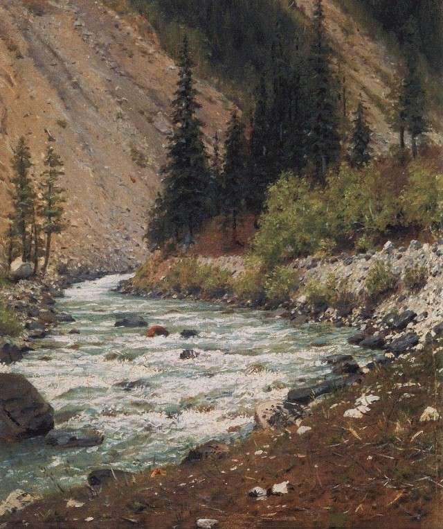 Василий Верещагин. Горный ручей в Кашмире. 1875
