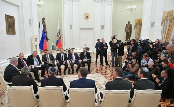 Владимир Путин принял в Кремле премьера Израиля Биньямина Нетаньяху