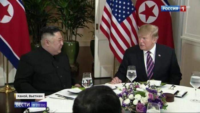 Дональд Трамп и Ким Чен Ын в Ханое провели первый день переговоров в формате «один на один»
