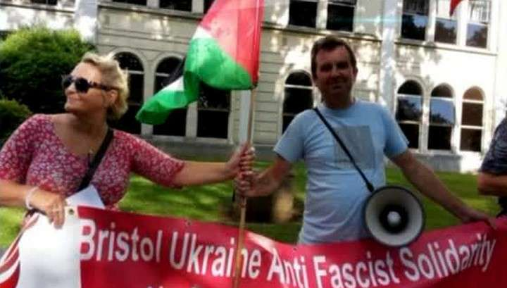Жители Бристоля устроили митинг против украинских националистов