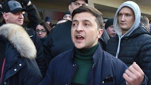 Кандидат в президенты Украины Владимир Зеленский
