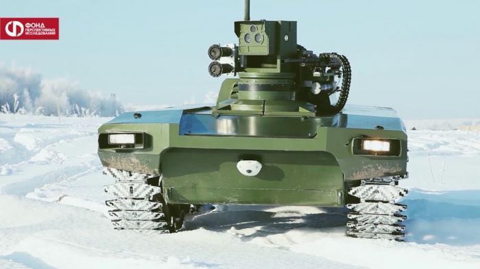 Видео нового российского боевого робота «Маркер»