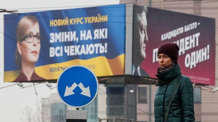 Порошенко, Тимошенко, Зеленский: победит комик, кровавый комик или женщина?