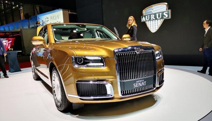 Российские автомобили Aurus Senat представили на автосалоне в Женеве
