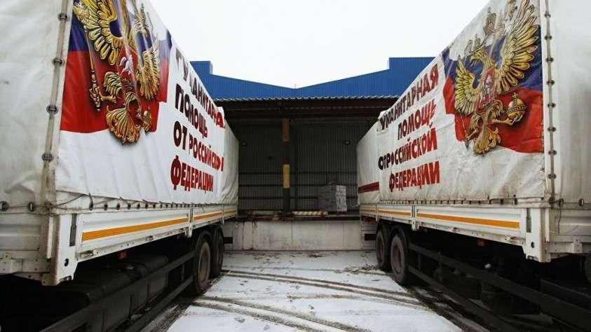 Песков объяснил причины приостановки поставок гумпомощи в Донбасс