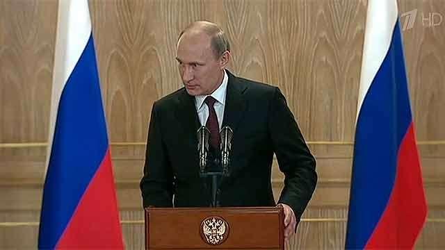 По завершении встречи с Порошенко Владимир Путин ответил на вопросы журналистов