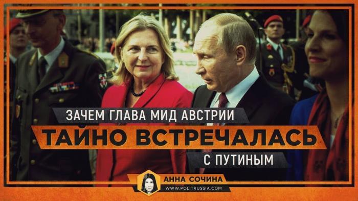 Зачем глава МИД Австрии Карин Кнайсль тайно встречалась с Путиным?