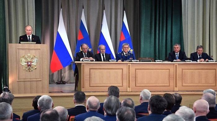 Владимир Путин принял участие в заседании коллегии Генеральной прокуратуры