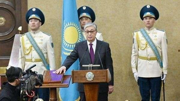 Касым-Жомарт Токаев во время принесения присяги президента Казахстана