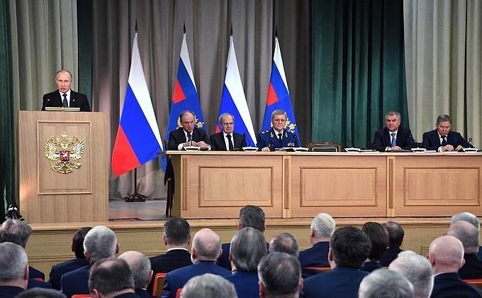 Путин на заседание Генпрокуратуры России