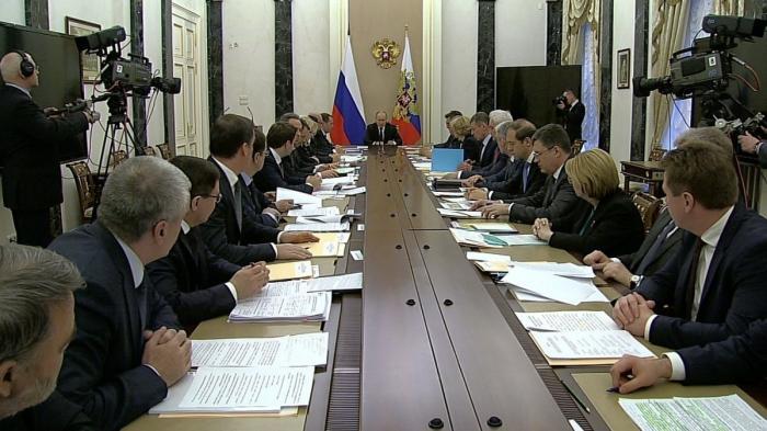 Владимир Путин провёл очередное совещание с членами Правительства РФ