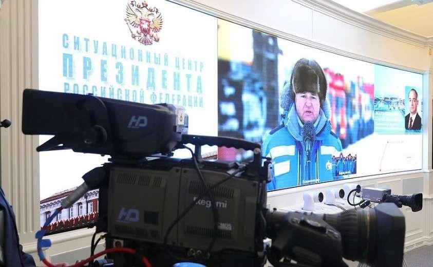 Владимир Путин в режиме телемоста дал команду к началу полномасштабного освоения Харасавэйского газового месторождения.