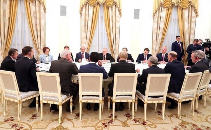 Владимир Путин провёл в Кремле встречу с представителями деловых кругов Великобритании