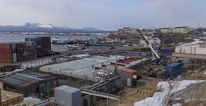 На курильских островах заложен фундамент для нового рыбоперерабатывающего предприятия