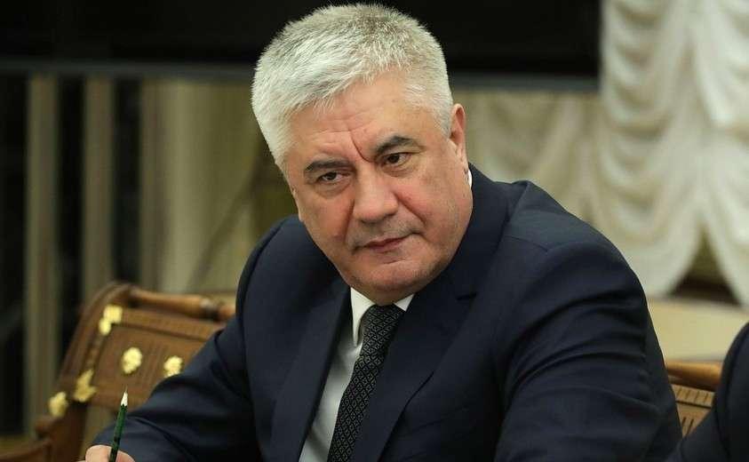 Министр внутренних дел Владимир Колокольцев на совещании с постоянными членами Совета Безопасности.