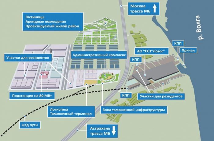 ВАстраханской области завершен первый этап создания инфраструктуры ОЭЗ «Лотос»