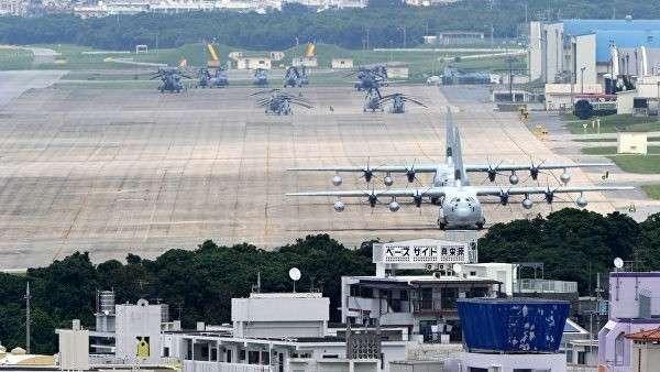 Американская авиабаза на острове Окинава