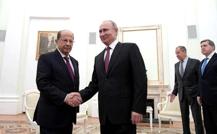 Владимир Путин провёл переговоры с Президентом Ливана Мишелем Ауном