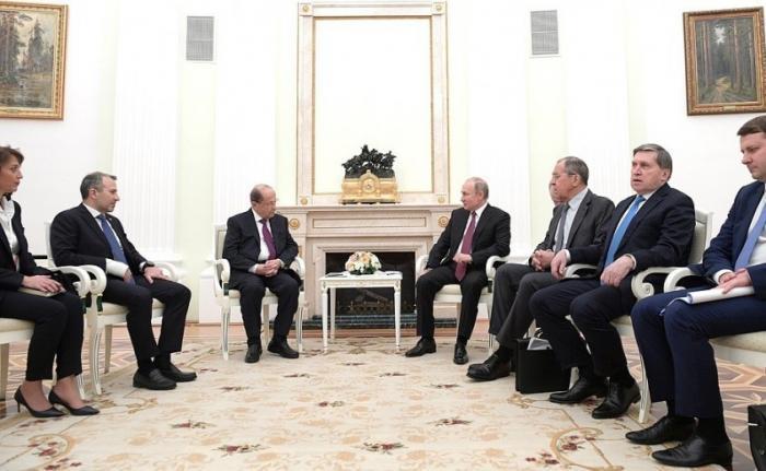 Владимир Путин провёл переговоры сПрезидентом Ливана Мишелем Ауном