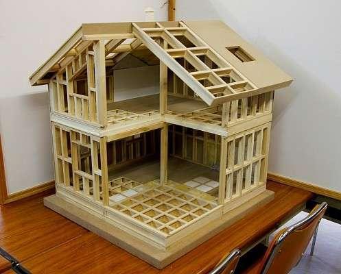 Деревянный жилой дом, который возводится за неделю