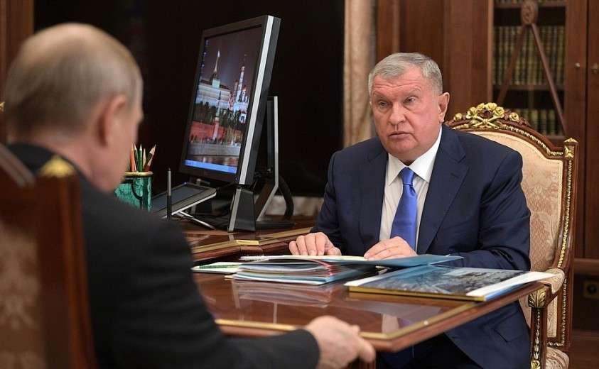 В ходе встречи с председателем правления компании «Роснефть» Игорем Сечиным.
